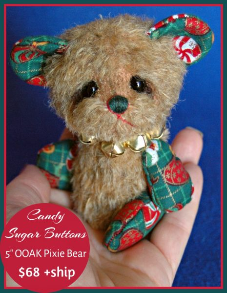 Christmas Pixie Bear - artist bear by Laura Lynn