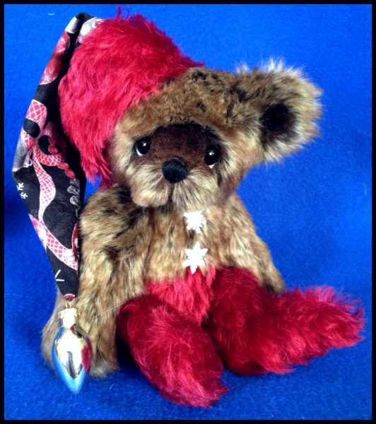 Cocoa Christmas Elf Artist Teddy Bear