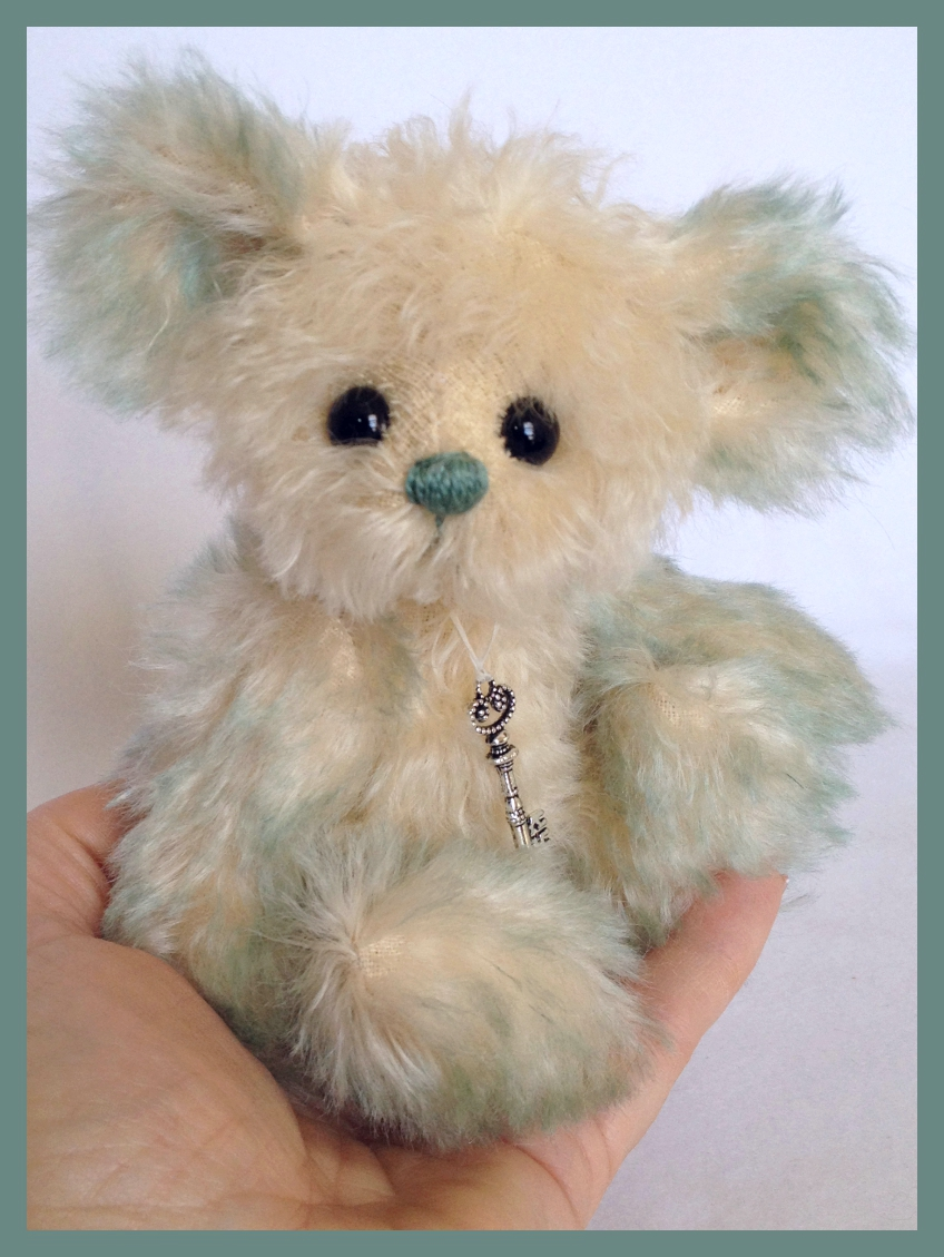 "Calypso- 6.5"" one of a kind artist teddy bear: www.TeddiesbyLauraLynn.com"