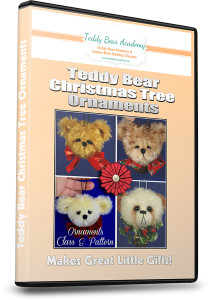 How to make teddy bear Christmas tree ornaments video class