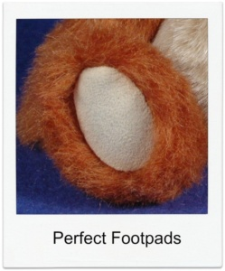 Perfect Teddy Bear Footpads